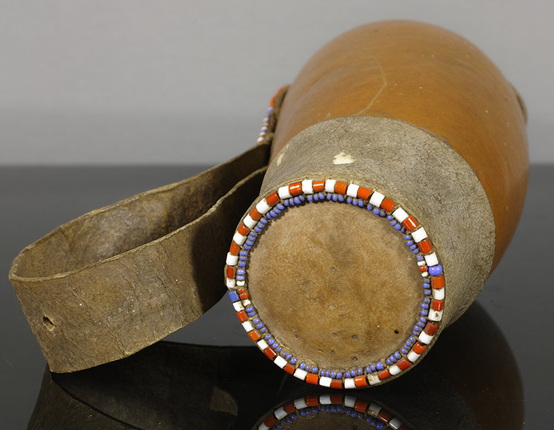 An Old Maasai Beaded Food Container, Kenya.