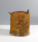 A Japanese Mingei Tokkuri, Signed and Inscribed, 19th Century.