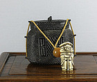 A fine woven tonkotsu, 19th century.