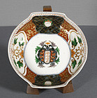 A Japanese Imari Porcelain Faux Armorial Dish, late 18th Century.