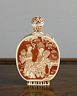 A Japanese Lacquer & Ivory Snuff Bottle for the Chinese Market. L19thC