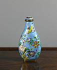 Chinese 'Basse Taille' Enamel Snuff Bottle, circa 1900