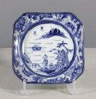 An Arita Blue & White Square Dish, 18th ~ 19th century. #2
