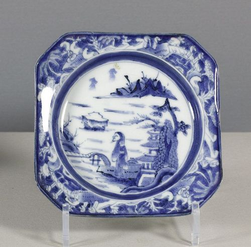 An Arita Blue & White Square Dish, 18th ~ 19th century. #3