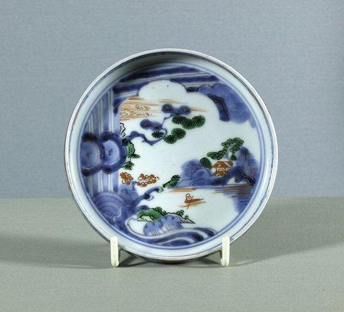 A fine Japanese porcelain small dish, circa 1750 ~ 1780. # 2.