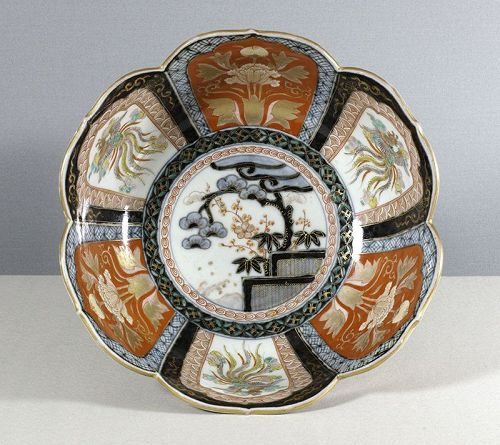 A Fine Large Japanese Imari Bowl, Meiji, 19th Century.