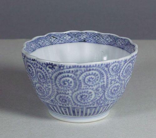 Arita porcelain bowl with scrolling karakusa, 18th ~ 19th century.