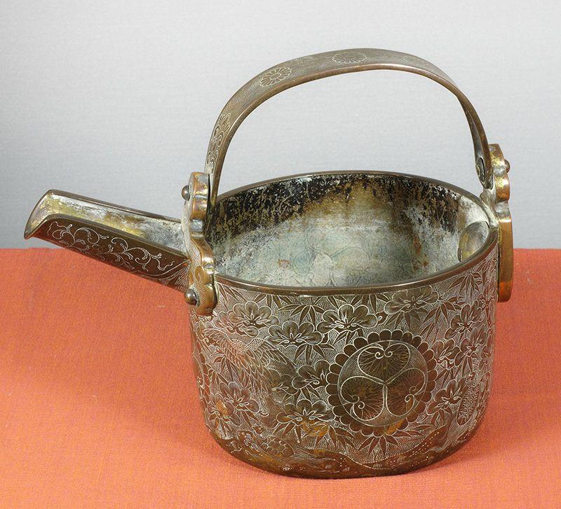A Fine Old Japanese Ceremonial Sake Pourer, Hisage.