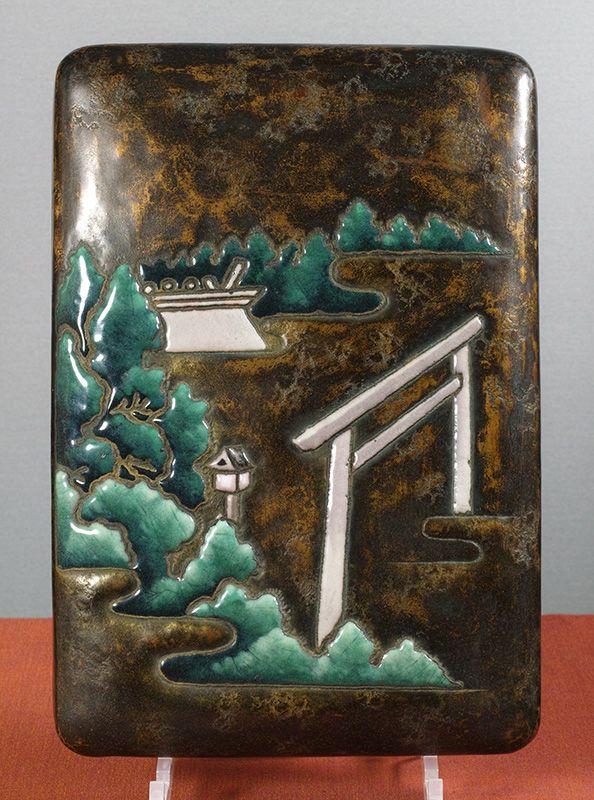 Cloisonne Enamel Writing Box (Suzuribako), �Ando Company, 1930.