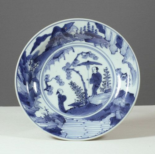 An Unusual Japanese Arita Plate, Circa 1680~1700
