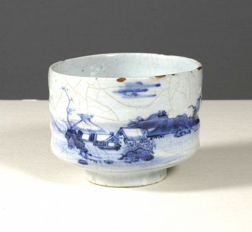 Fine Japanese Porcelain Chawan, Mid 18th Century.