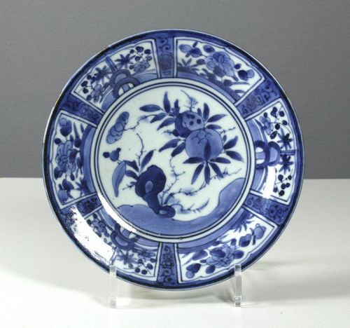Japanese Arita Export 'Kraak' plate, # 1,  c. 1680