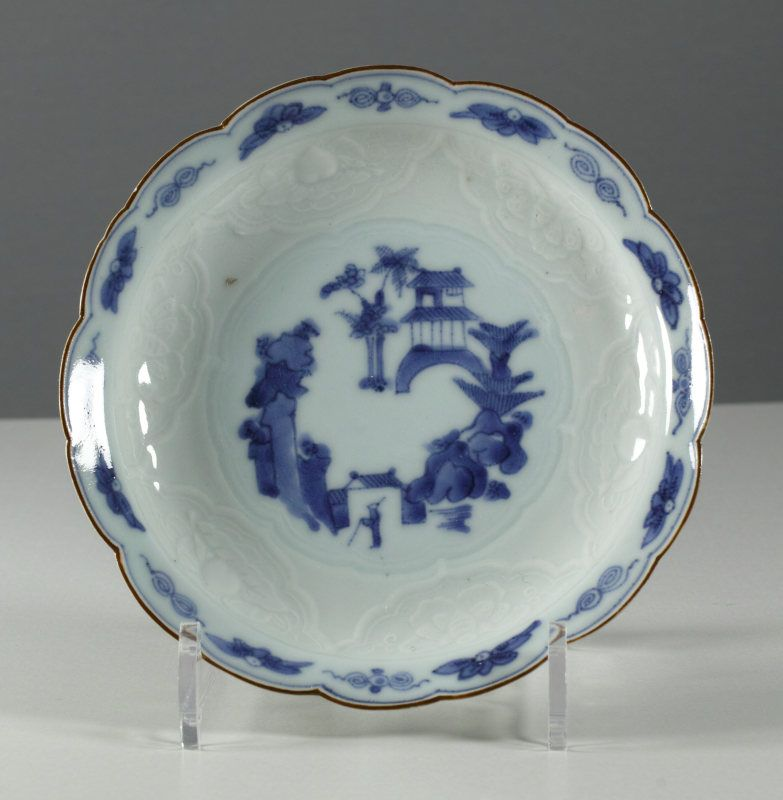 18th Century Arita moulded plate, 1750 ~ 1780 # 4