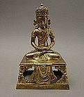 QIANLONG Court Gilt Bronze Buddha,  18C.