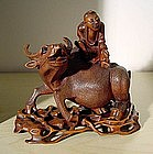 Fine Chinese Boxwood Carving,19C