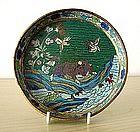 Rare 18th Century Chinese Cloisonné Dish.