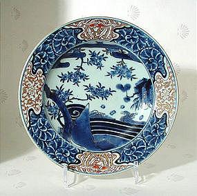 Japanese Arita Imari Dish, 17thC.