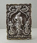 Fine Silver Card Case, SARASVATI, India 19C