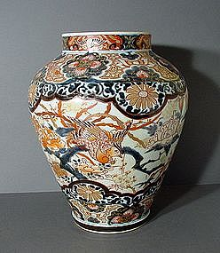 Large Japanese Export Arita Imari Jar, 17~18C.