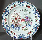 Super Pair Chinese Export Famille Rose Plates.