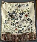 Chinese Silk Panel, 19thC. Scholars Paradise