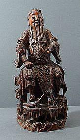 Chinese Boxwood Zhenwu, 17th  ~ 18th C.