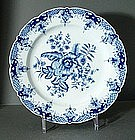 Rare Chinese Export Worcester Pine Cones Plate, 18thC.