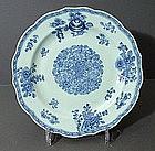 Chinese Export Botanical Design Plate Qianlong 18C