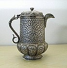 Silver Ewer, India, 19C.