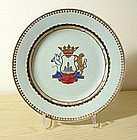Fine Chinese Export Armorial Plate, 18thC.