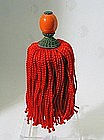 Chinese Coral Court Hat Insignia and Red Tassel, 19C