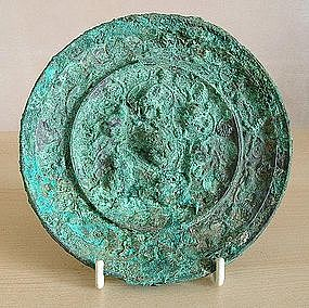 Tang Lion and Grapevine Mirror, 7th ~ 10th C.