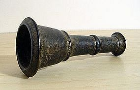 A bidri chillum, India, 18th Century.