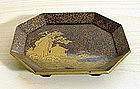 Japanese Gold Lacquer Tray, 18th Century.