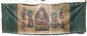 Buddhist Temple Hanging, 19th Century.