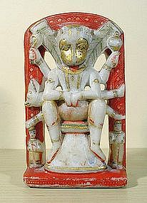 Vishnu as Narasimha, half-man, half-lion. 19thC.
