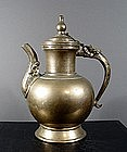 A Sino-Tibetan Bronze Ewer, 18th ~ 19th Century