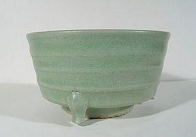 A Yuan Longquan Celadon Censer, 13th ~ 14th Century