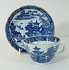 Chinese Export Cup & Saucer, Qianlong, 18thC.