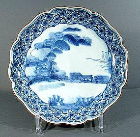 Arita Blue & White Dish, 18th Century.