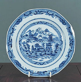 Rare Chinese Export Topographical Plate, late 18th C.