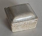 Ge Ware Seal Paste Box, Ex Davison Collection.