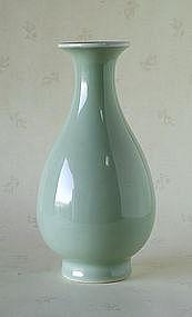 A Chinese Pale Celadon Vase, 19thC.