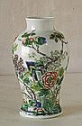 A Chinese Famille Verte Vase, Kangxi Mark, 19th C.