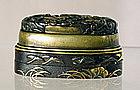 A Japanese Fuchi Kashira Box, 19thC.