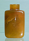 Chinese Agate Snuff Bottle 19thC.
