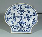 Chinese Export Scallop Shell Dish, Kangxi, C 1700.