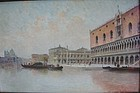 View of Grand Canal Venice KARL KAUFFMANN Oil/Panel
