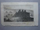 "Hawaii Engraving 1826 ""Ruins ...near Kairua"" Wlm Ellis"