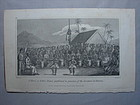 "Hawaii Engraving 1826  ""A Hula, or Native Dance....."""